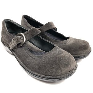 Born Black Suede Mary Jane Comfort Shoes 7.5